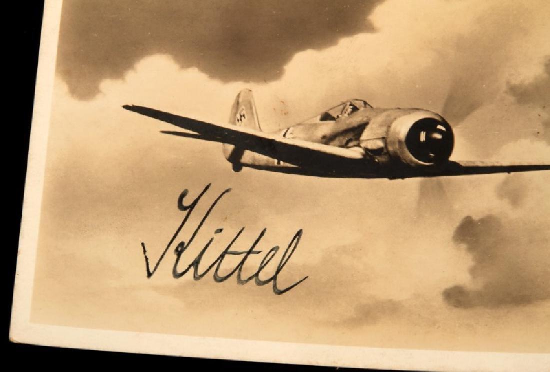 WWII GERMAN THIRD REICH LUFTWAFFE ACE KITTEL PHOTO - 2