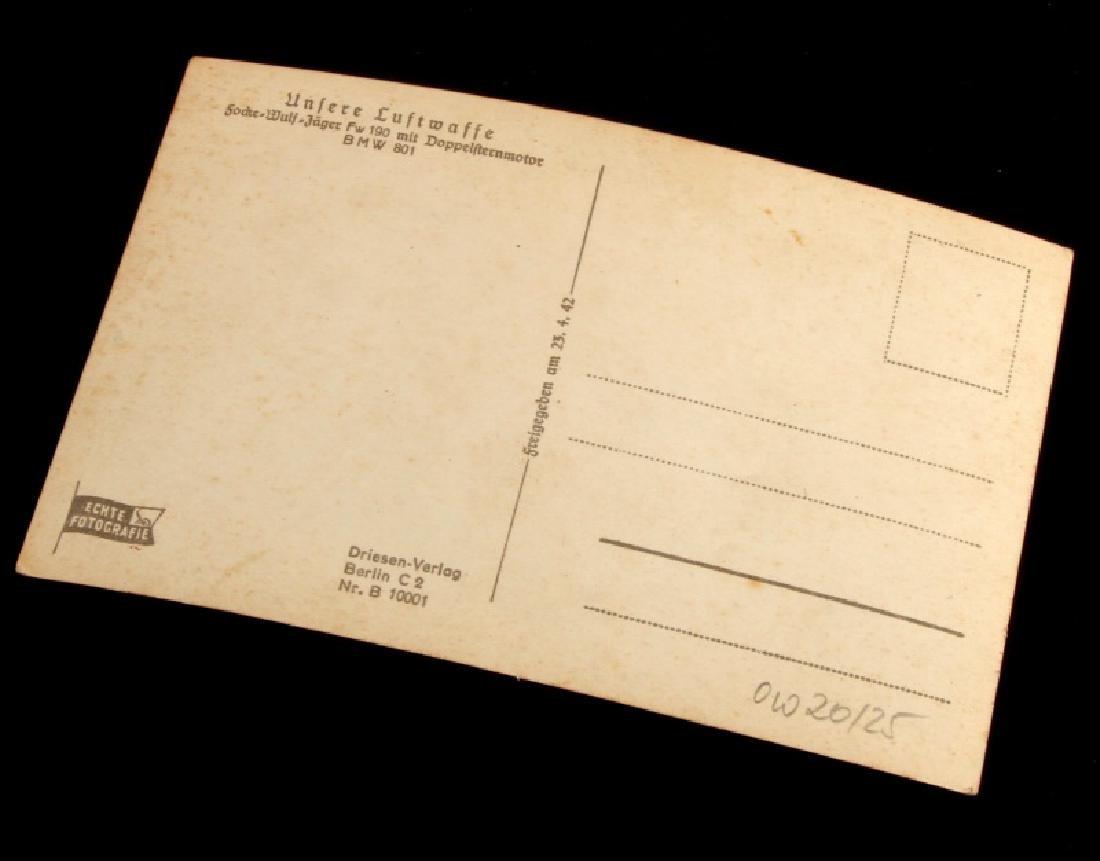 WWII GERMAN THIRD REICH LUFTWAFFE ACE KITTEL PHOTO - 3