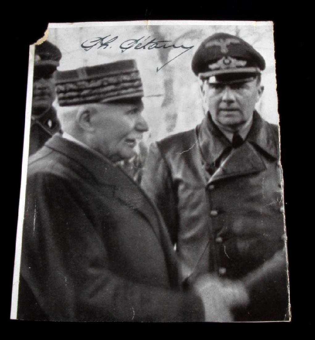 WWII VICHY FRENCH LEADER PETAIN AUTOGRAPHED PHOTO