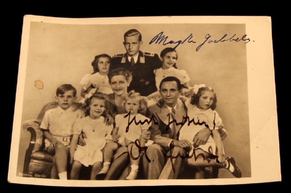 WWII GERMAN THIRD REICH GOEBBELS SIGNED PHOTO