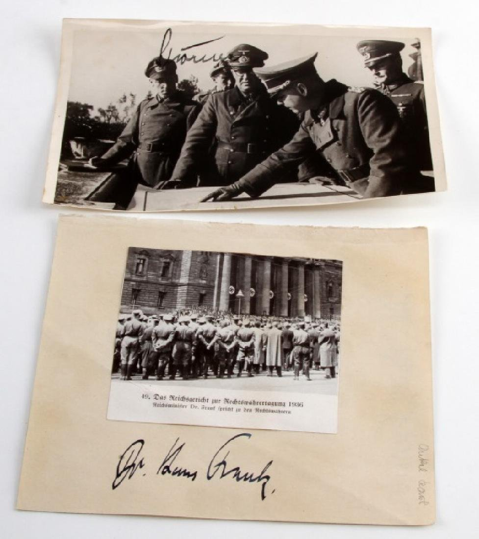 WWII GERMAN THIRD REICH SIGNED PHOTO LOT
