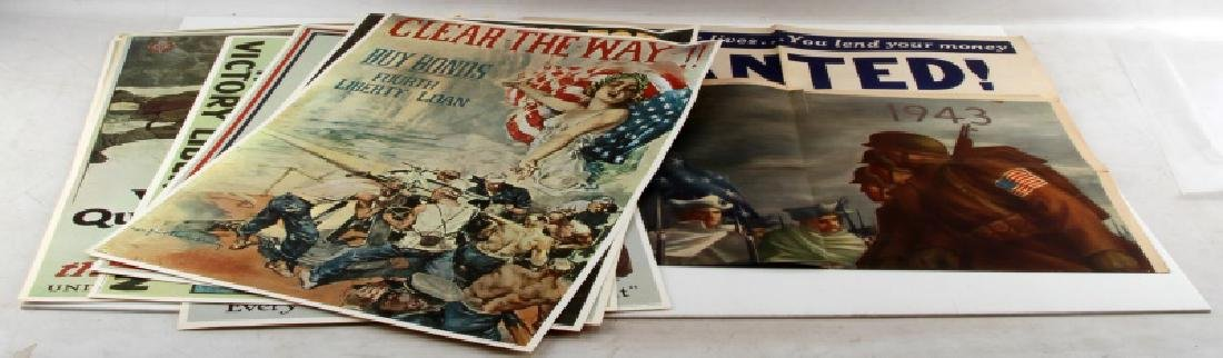 WWI WWII US MILITARY RECRUITING AND BOND POSTER