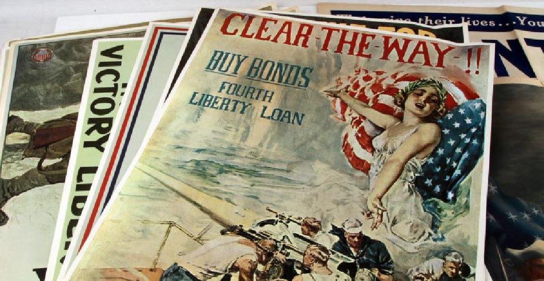 WWI WWII US MILITARY RECRUITING AND BOND POSTER - 2