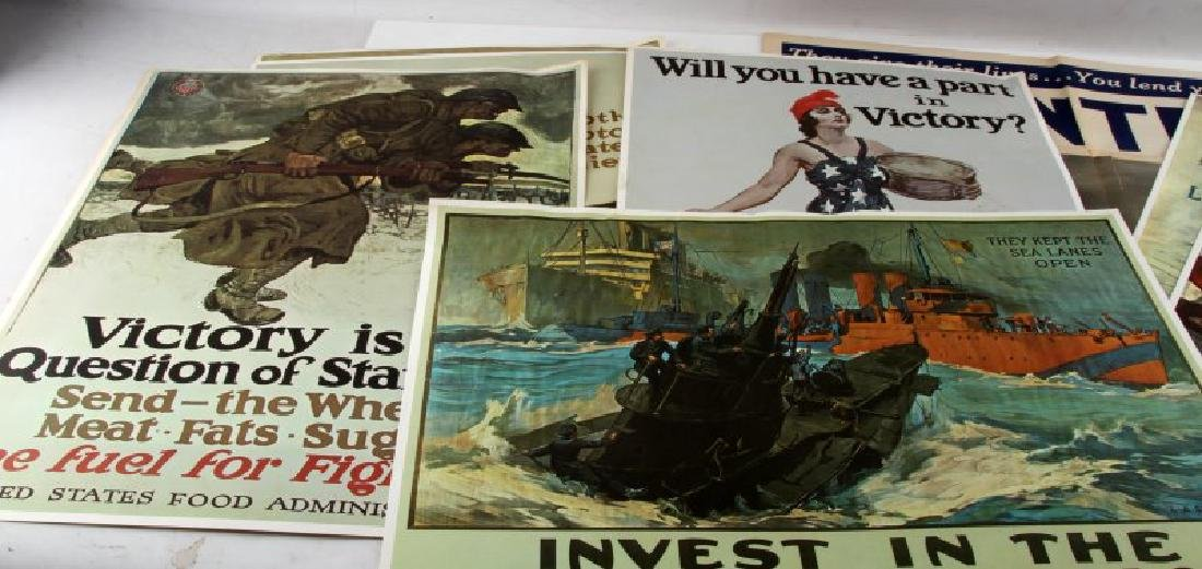 WWI WWII US MILITARY RECRUITING AND BOND POSTER - 4