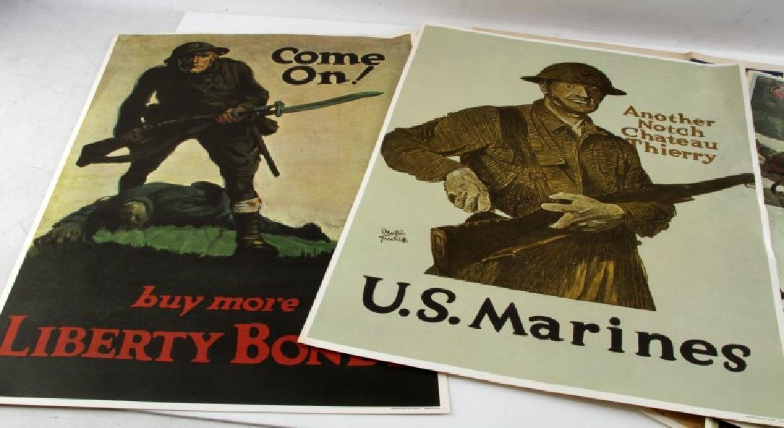 WWI WWII US MILITARY RECRUITING AND BOND POSTER - 5