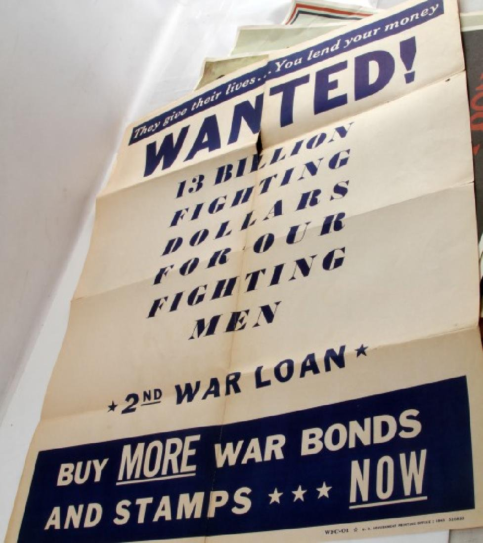 WWI WWII US MILITARY RECRUITING AND BOND POSTER - 7