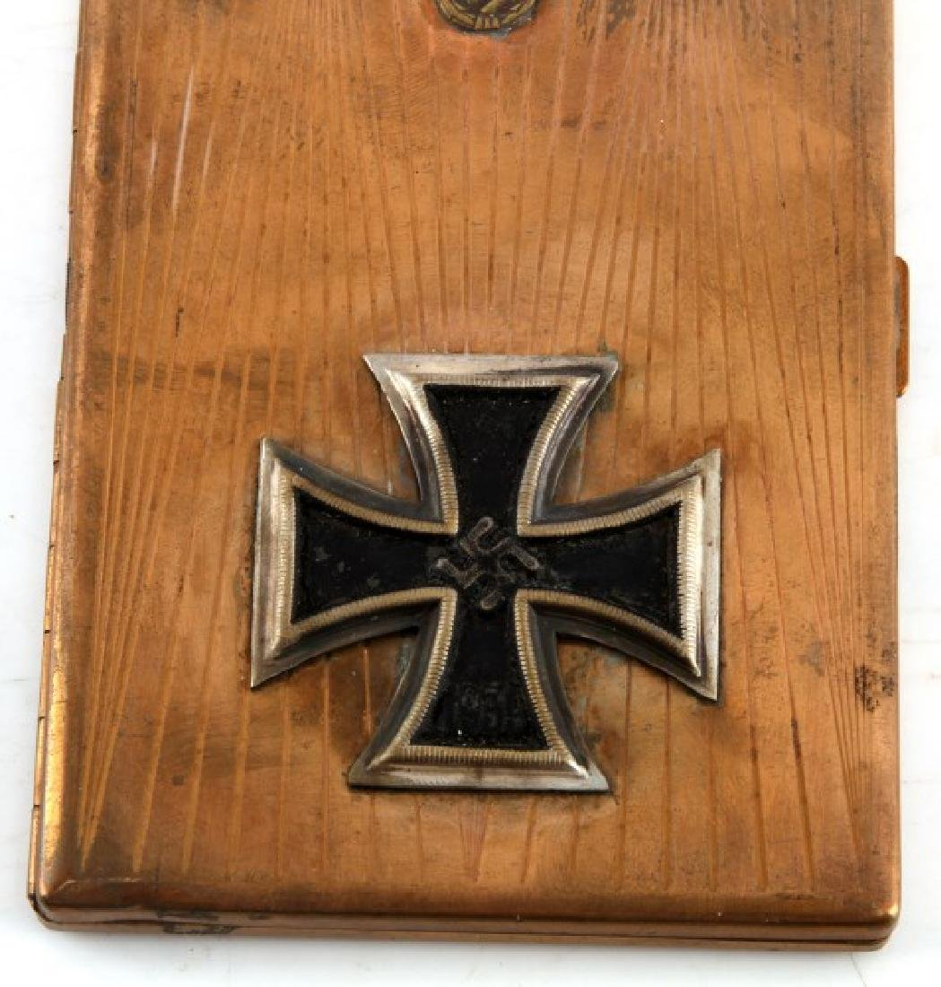 WWII GERMAN THIRD REICH IRON CROSS CIGARETTE CASE - 2