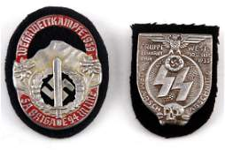 2 GERMAN WWII 3RD REICH PERIOD SS & SA PLAQUE LOT
