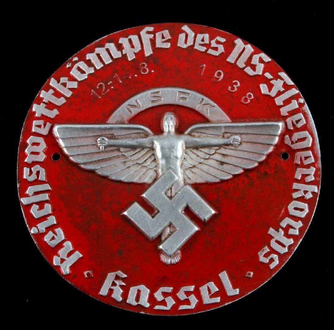 RARE GERMAN WWII THIRD REICH NSFK 1938 PLAQUE