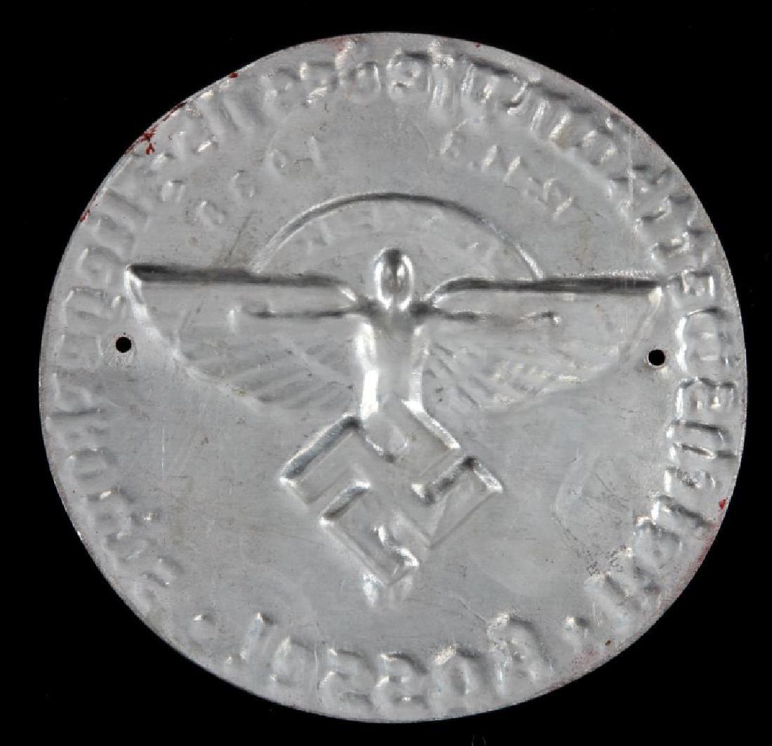 RARE GERMAN WWII THIRD REICH NSFK 1938 PLAQUE - 2