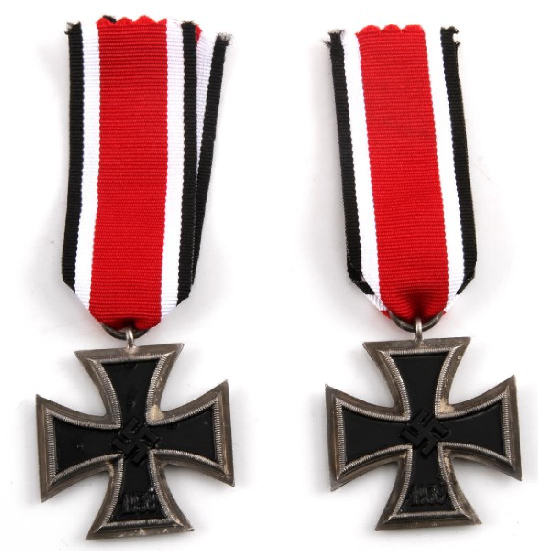 2 GERMAN WWII THIRD REICH IRON CROSSES 2ND CLASS