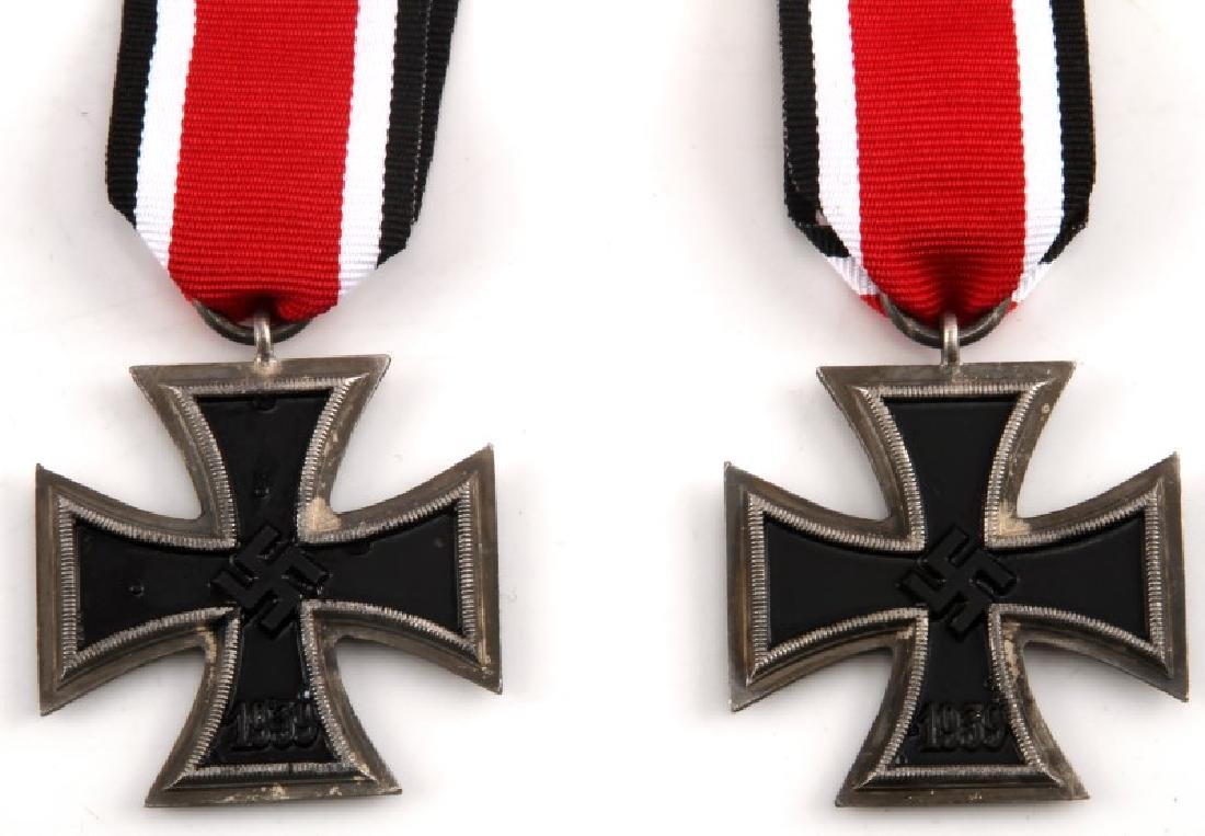 2 GERMAN WWII THIRD REICH IRON CROSSES 2ND CLASS - 2