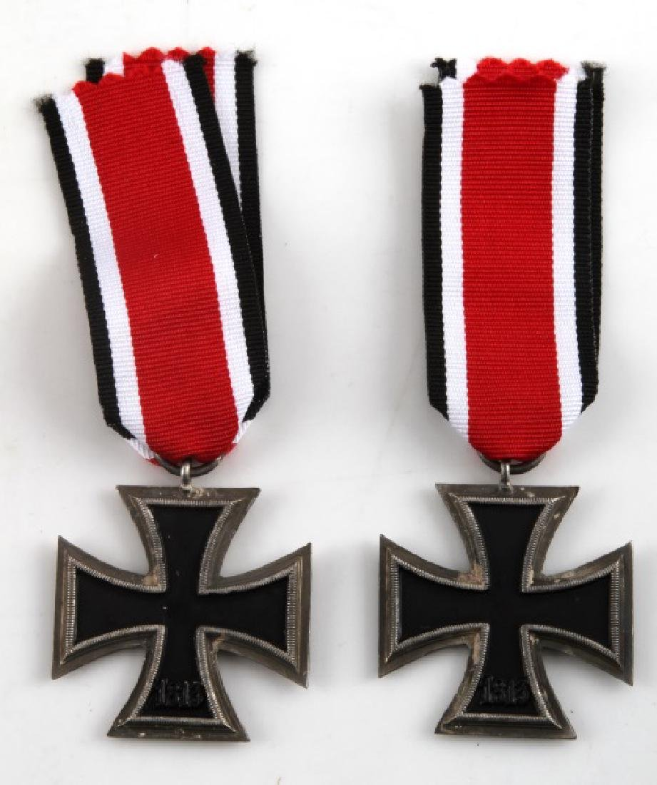 2 GERMAN WWII THIRD REICH IRON CROSSES 2ND CLASS - 3