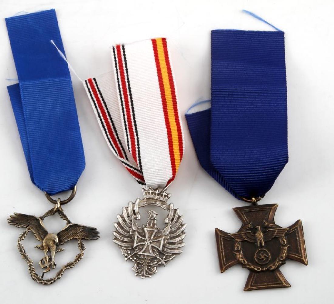 3 GERMAN WWII THIRD REICH PERIOD AWARD MEDALS
