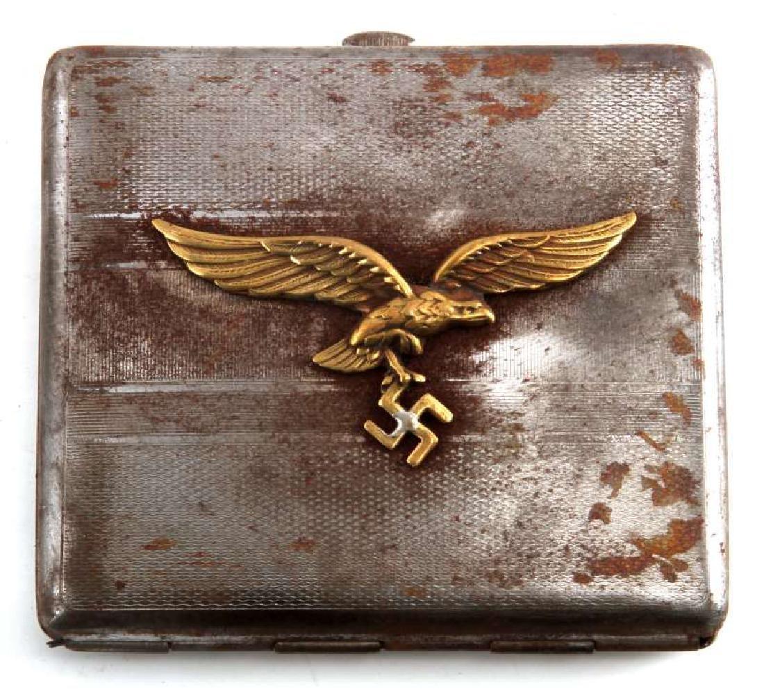 GERMAN WWII LUFTWAFFE PILOT CIGARETTE CASE