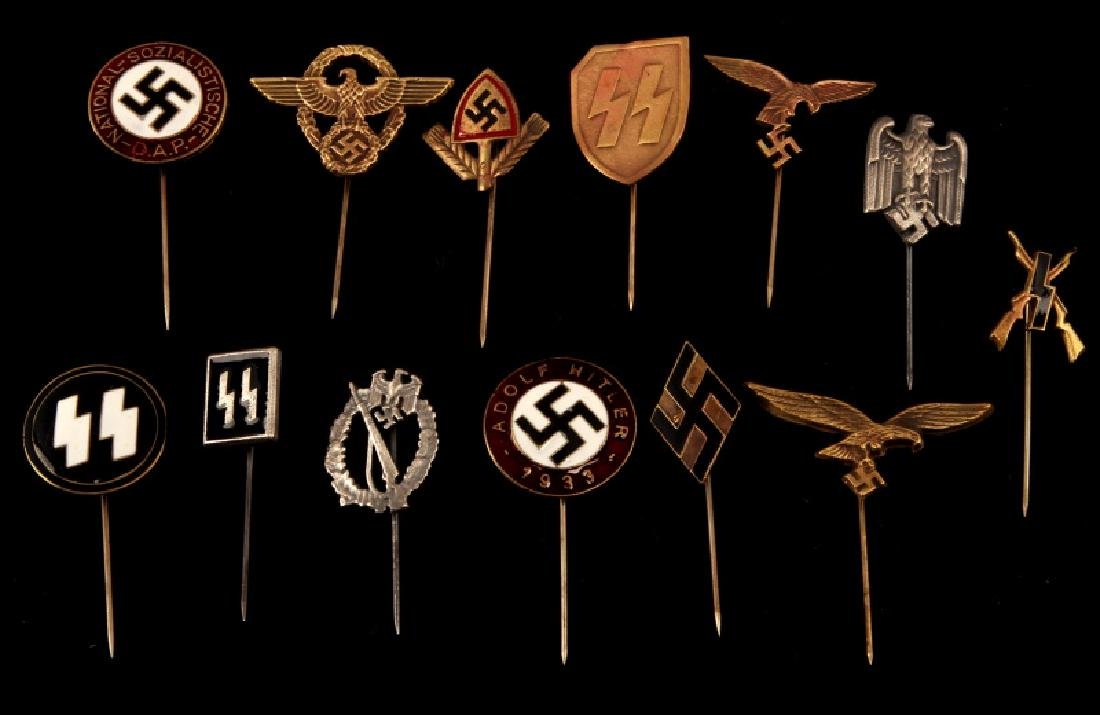 13 GERMAN WWII THIRD REICH STICK PINS
