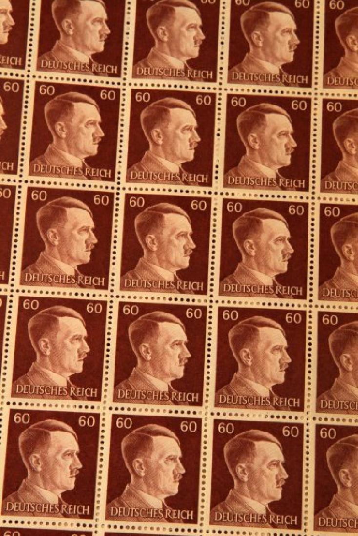 7 SHEET GERMAN WWII ADOLF HITLER HEAD STAMP LOT - 4