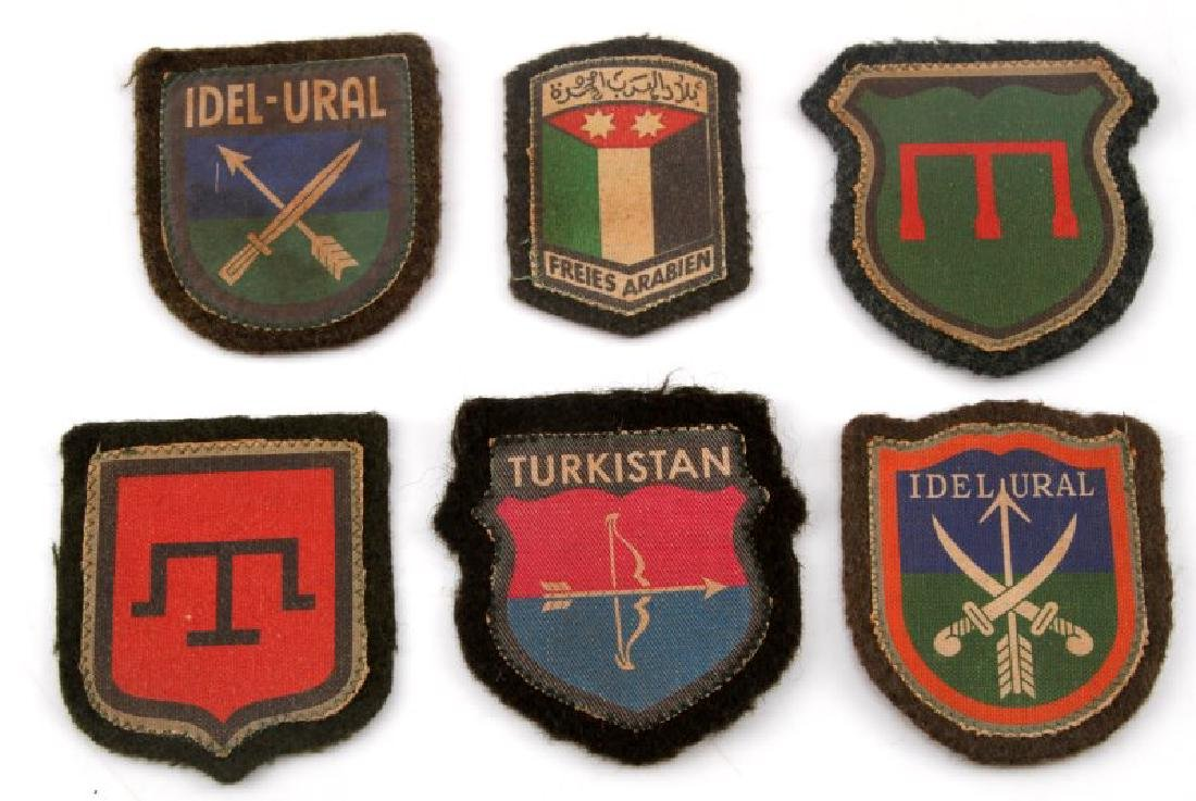6 GERMAN WWII MUSLIM VOLUNTEER SLEEVE PATCH LOT