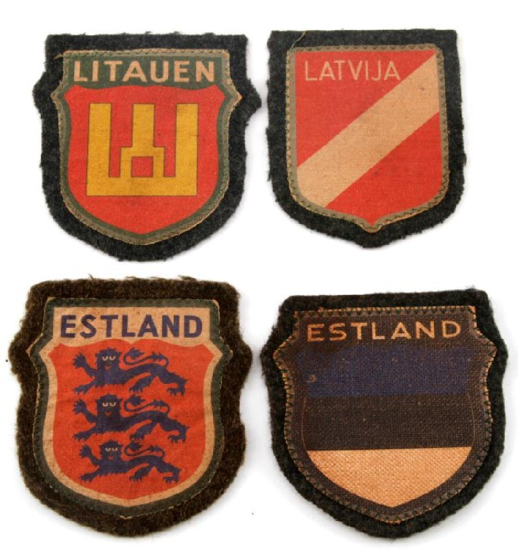 4 GERMAN WWII BALTIC REGION VOLUNTEER PATCH LOT
