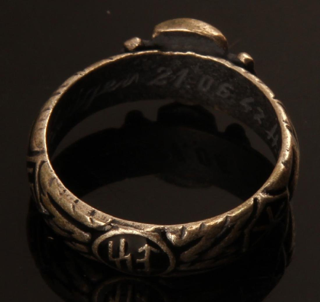 GERMAN WWII THIRD REICH SS HIMMLER HONOR RING - 3
