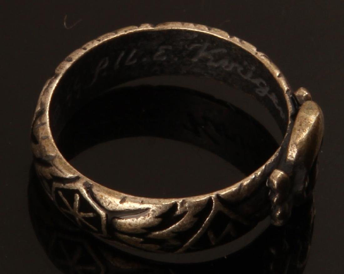 GERMAN WWII THIRD REICH SS HIMMLER HONOR RING - 4