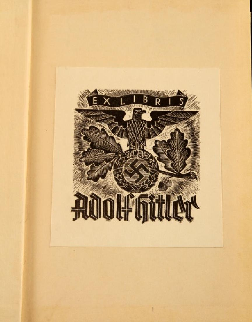 ANTI SEMITIC HISTORY JUDAISM EX LIBRIS ADOLF HITLER