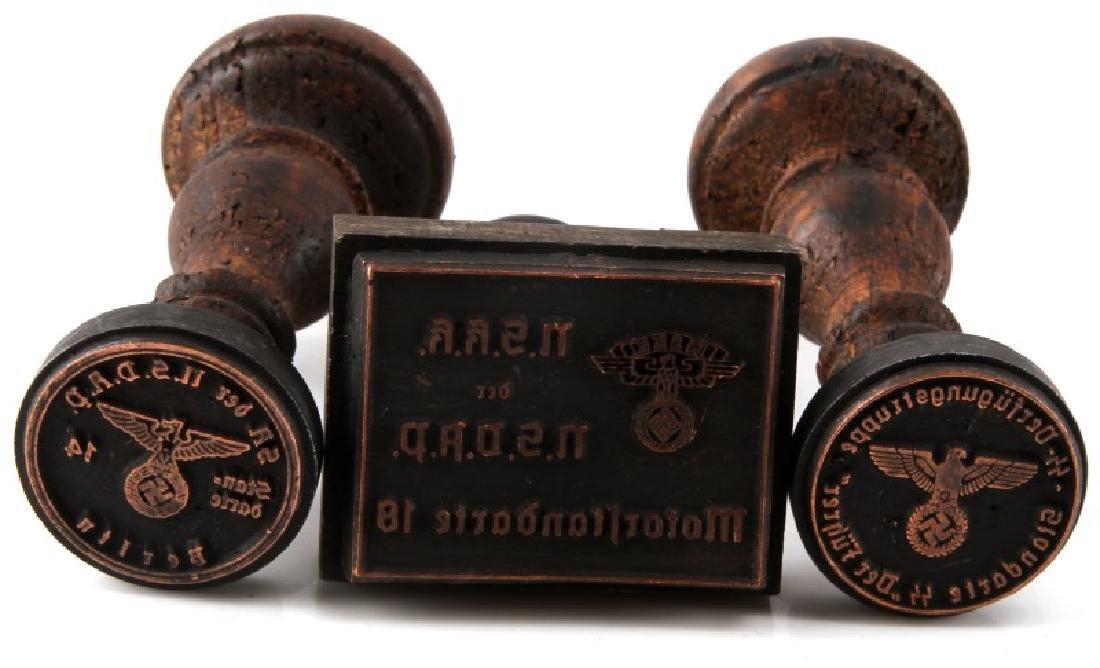 3 GERMAN WWII THIRD REICH HAND STAMPS