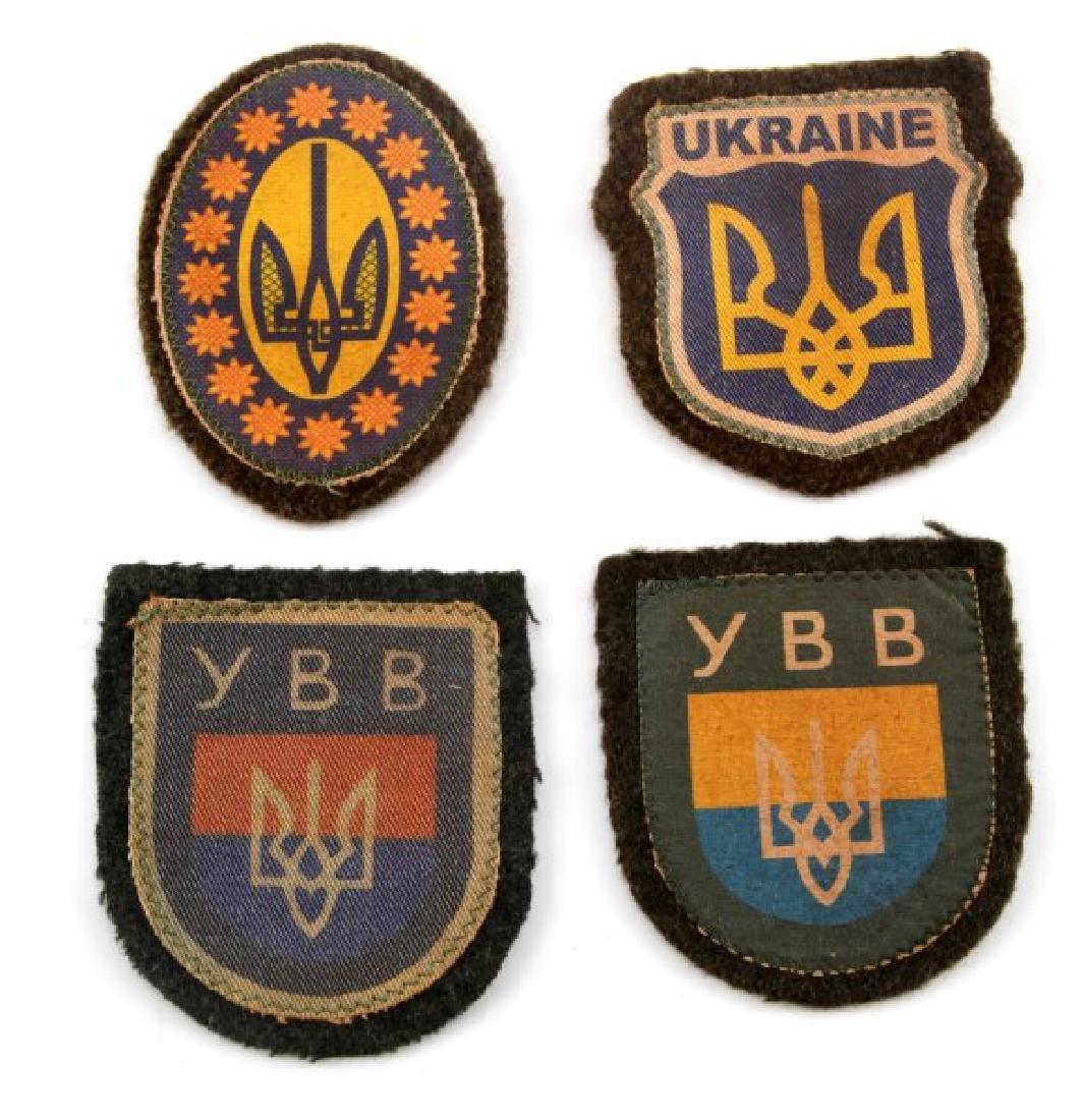 4 GERMAN WWII UKRAINIAN VOLUNTEER SLEEVE PATCH LOT