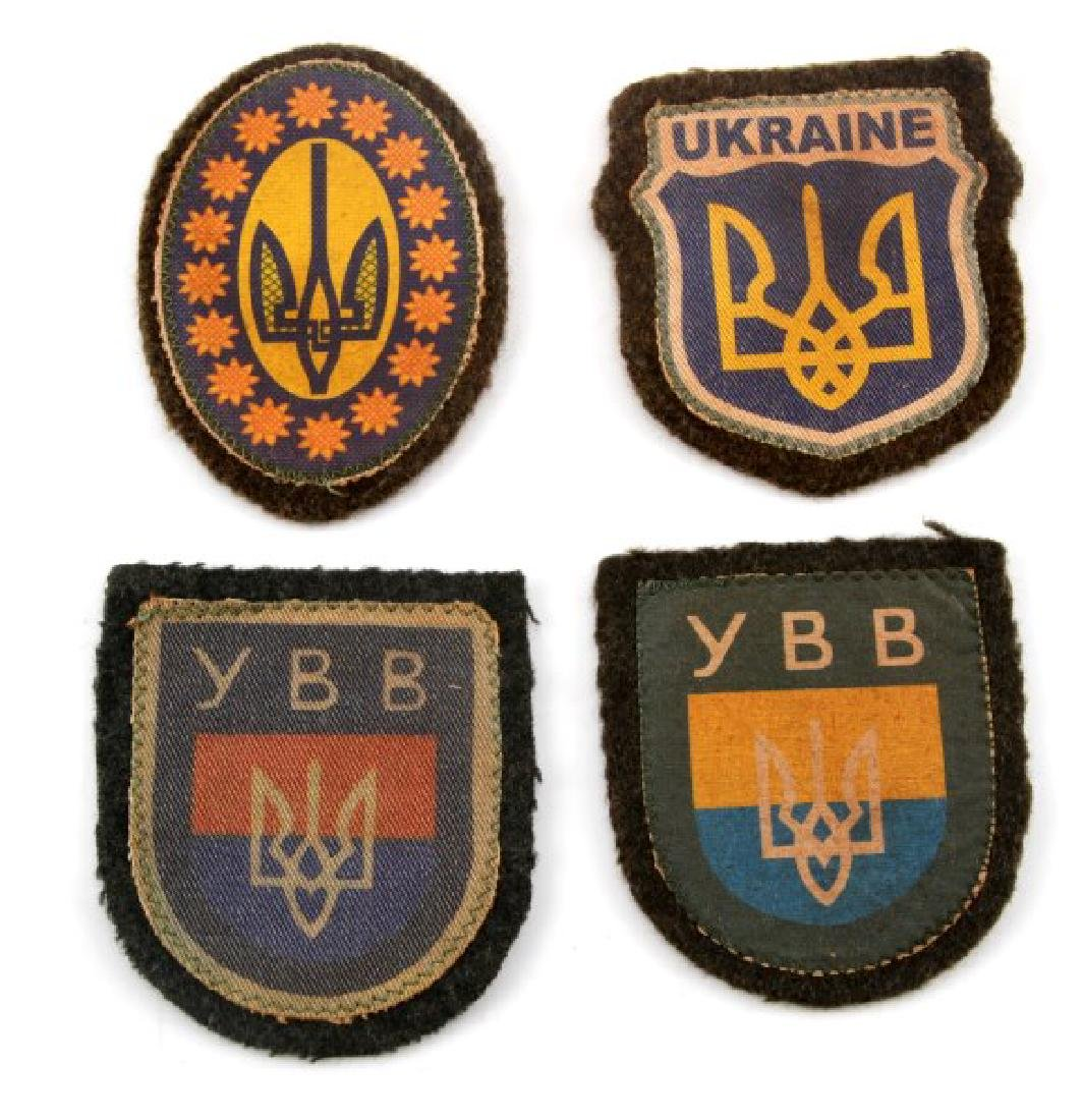 4 GERMAN WWII UKRAINIAN VOLUNTEER SLEEVE PATCH LOT
