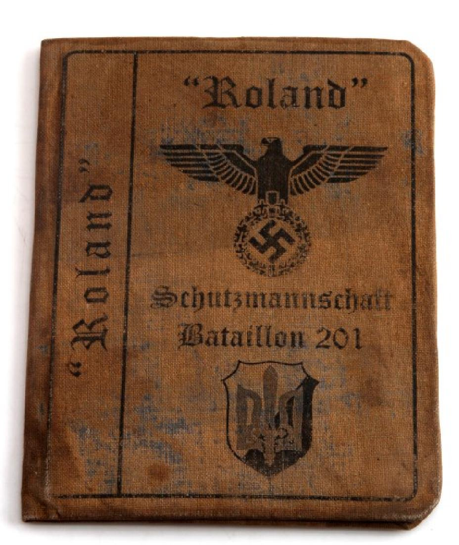 GERMAN WWII UKRAINIAN VOLUNTEER AUSWEIS ID ROLAND