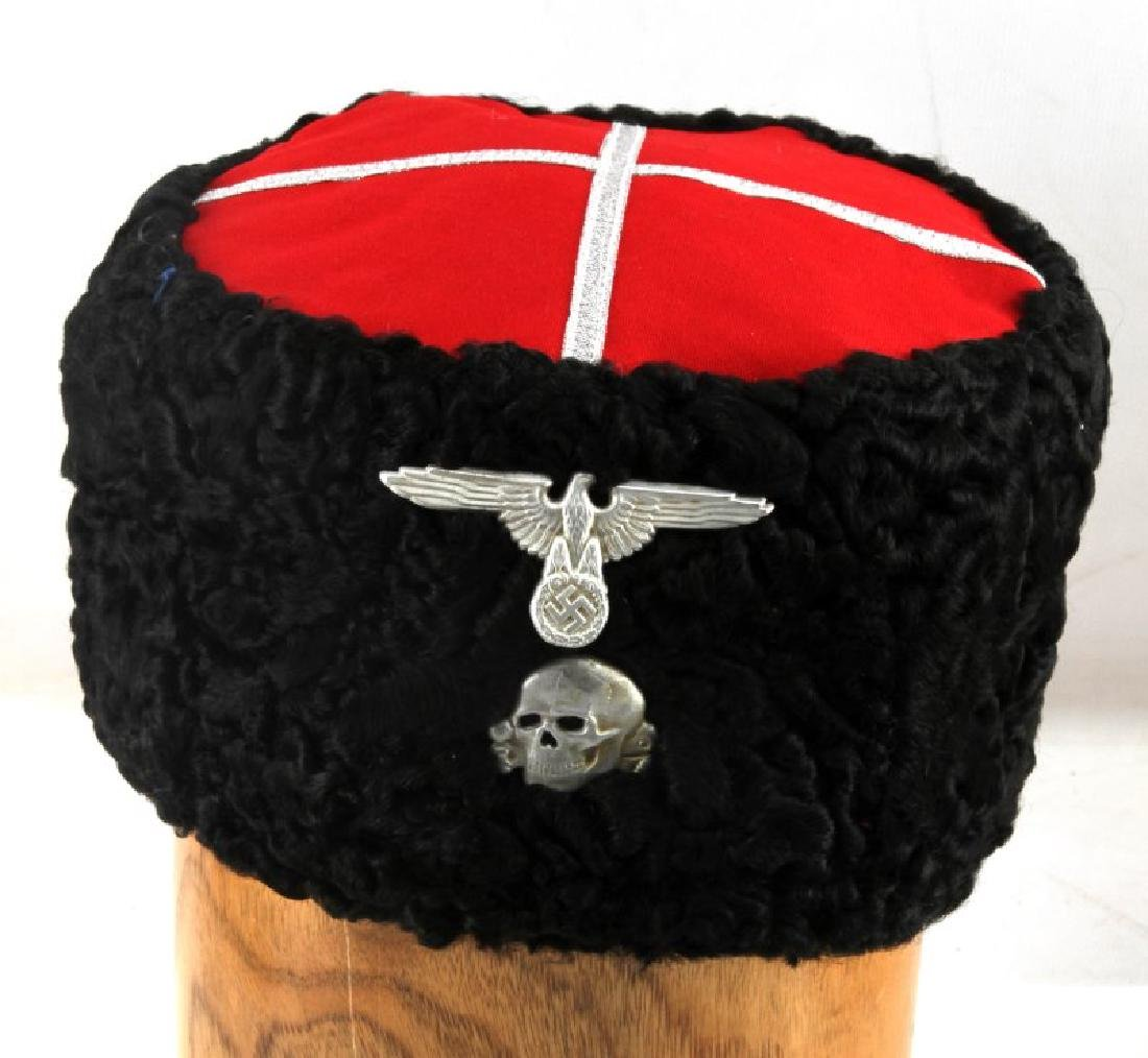 GERMAN WWII WAFFEN SS RUSSIAN COSSACK PAPAKHA HAT