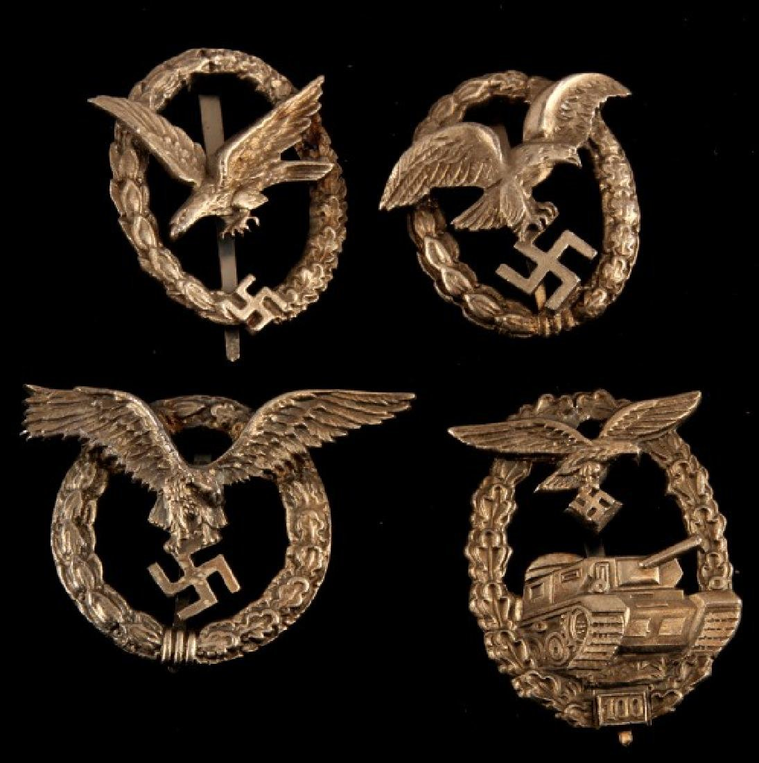 4 GERMAN WWII THIRD REICH LUFTWAFFE BADGE LOT