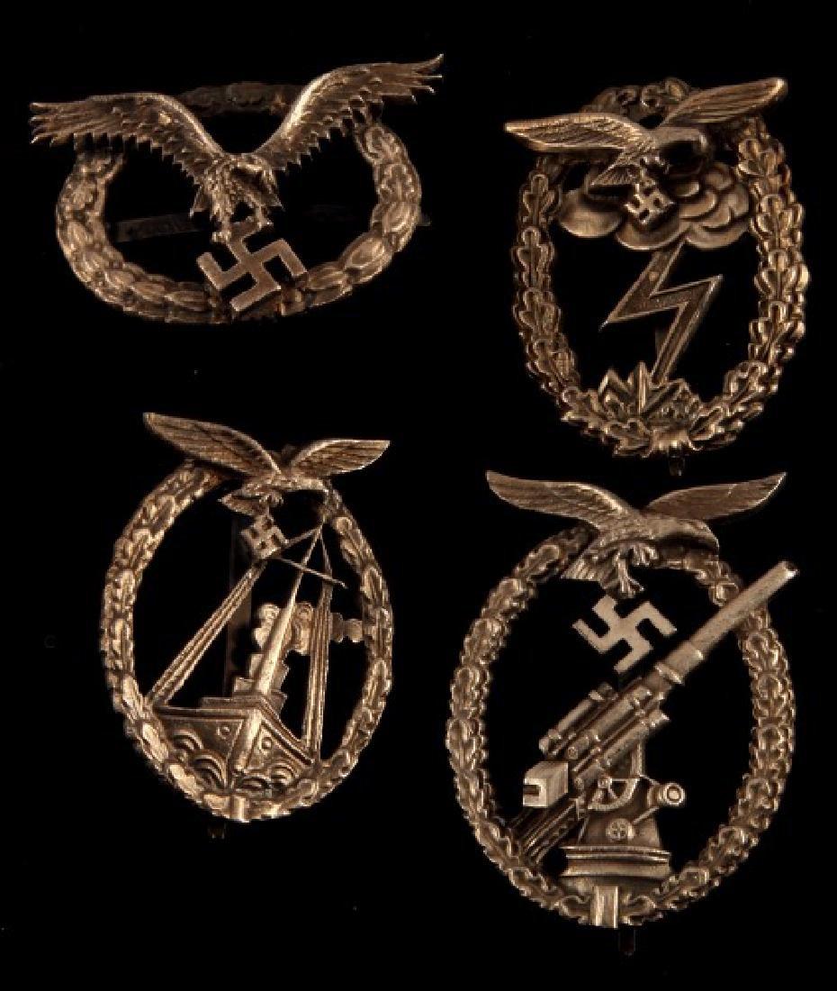 4 GERMAN THIRD REICH LUFTWAFFE BADGE LOT