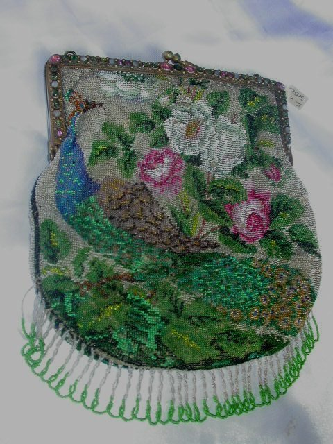 PETTIPOINT BEADED PURSE FLORAL DESIGN