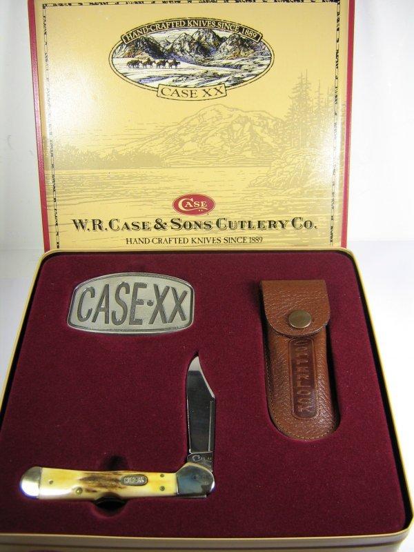 CASE XX COPPERLOCK KNIFE CASE GIFT SET BUCKLE