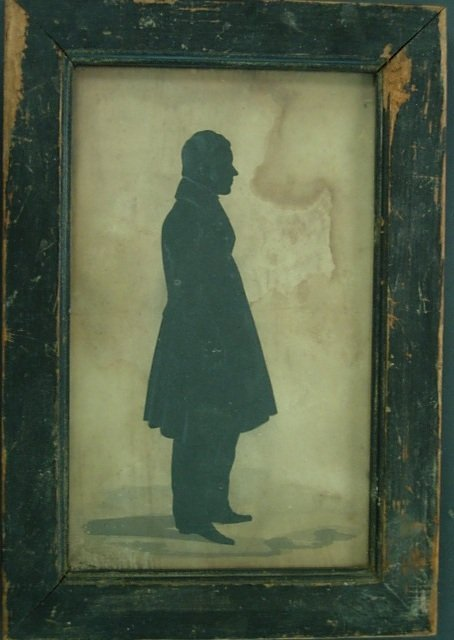 EARLY AMERICAN FULL SILHOUETTE PORTRAIT OF A GENT
