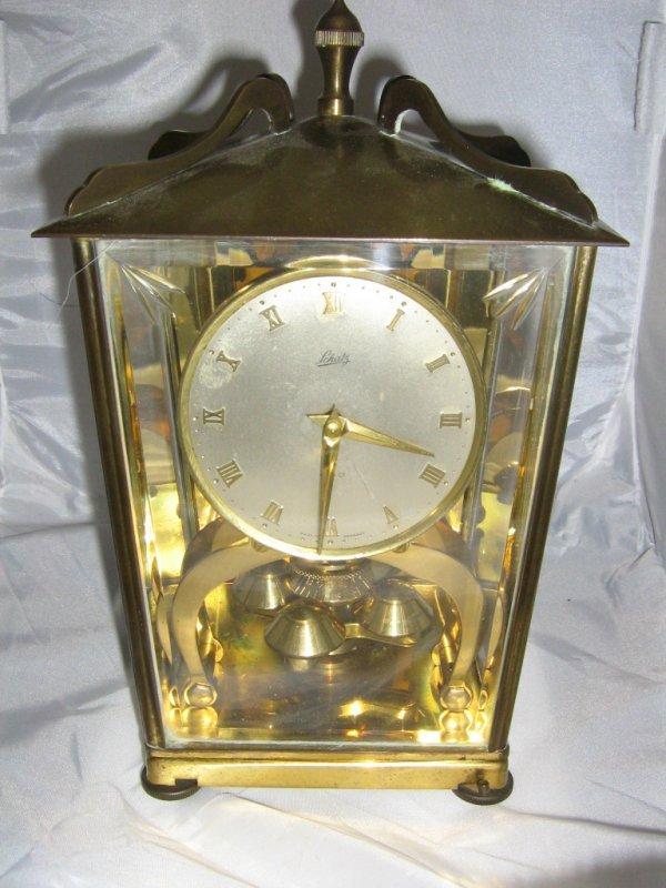 ANTIQUE SCHATZ CLOCK WITH BEVELED GLASS 400 DAY