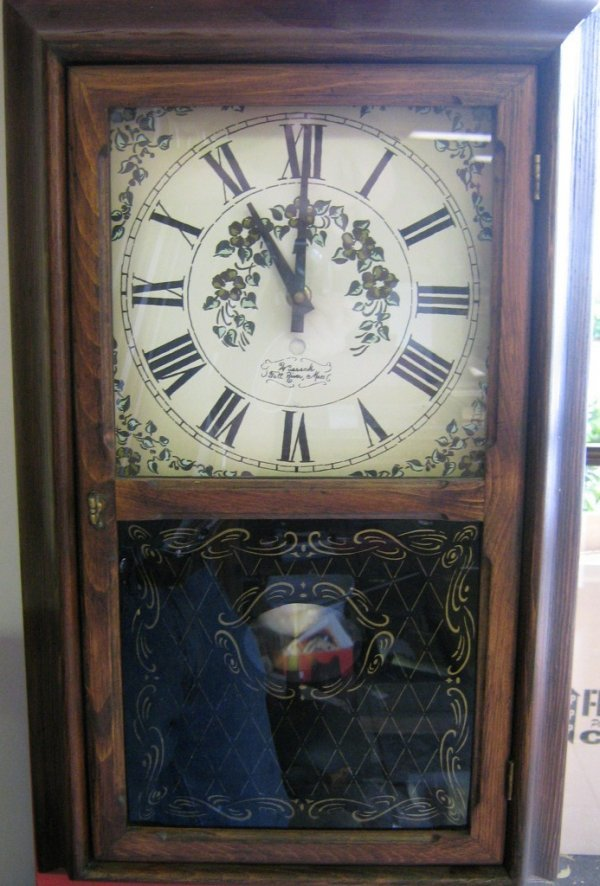 ANTIQUE WALL CLOCK WITH CHIME