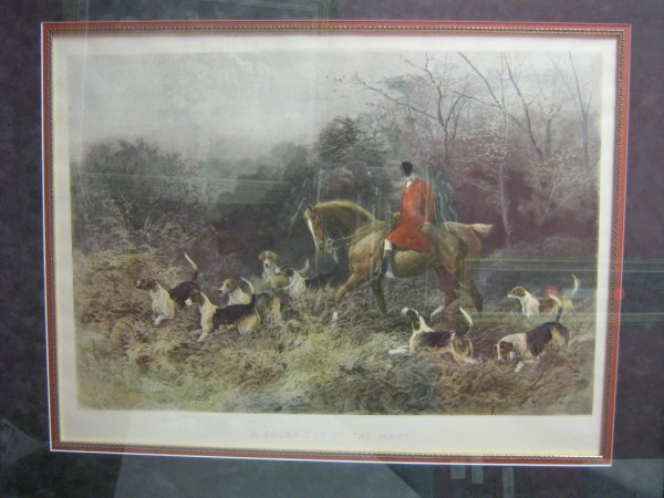 """HAYWOOD HARDY """"A SHORTCUT TO THE MEET"""" FOX HUNT"""
