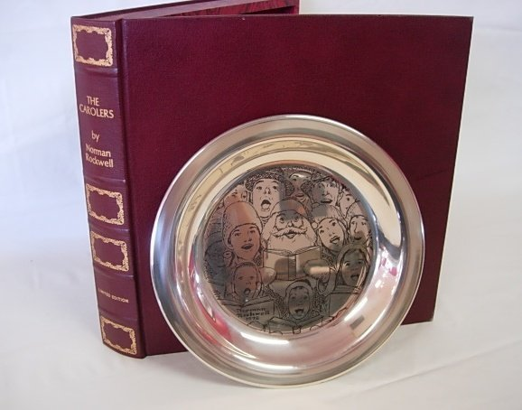 1972 STERLING SILVER LTD ROCKWELL CHRISTMAS PLATE