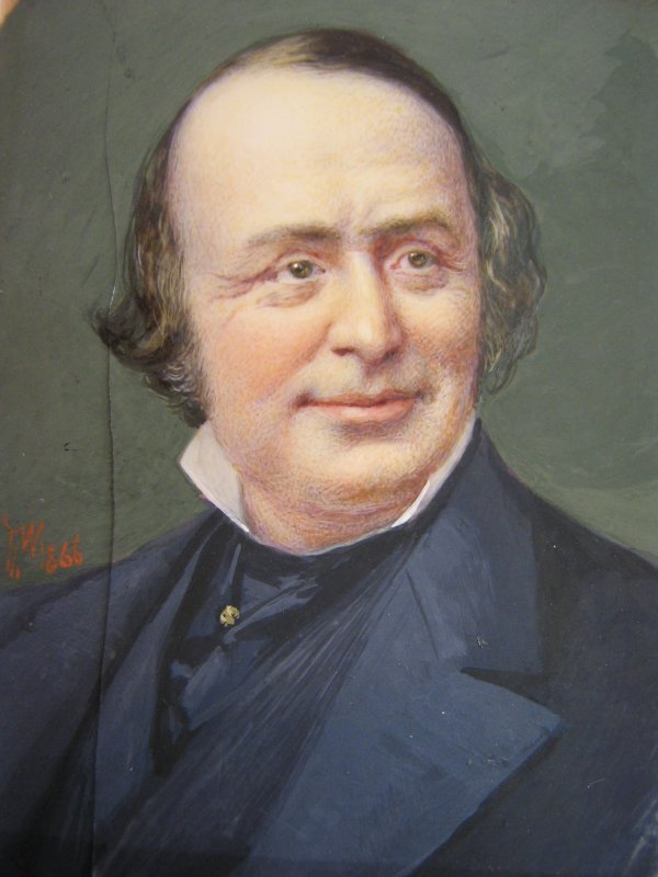MINIATURE PORTRAIT / IVORY LOUIS AGASSIS BY WUST