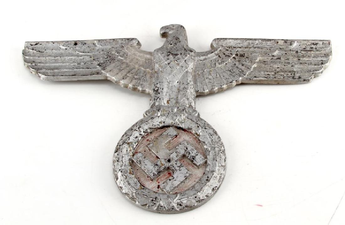 WWII GERMAN THIRD REICH METAL EAGLE 3D EMBLEM