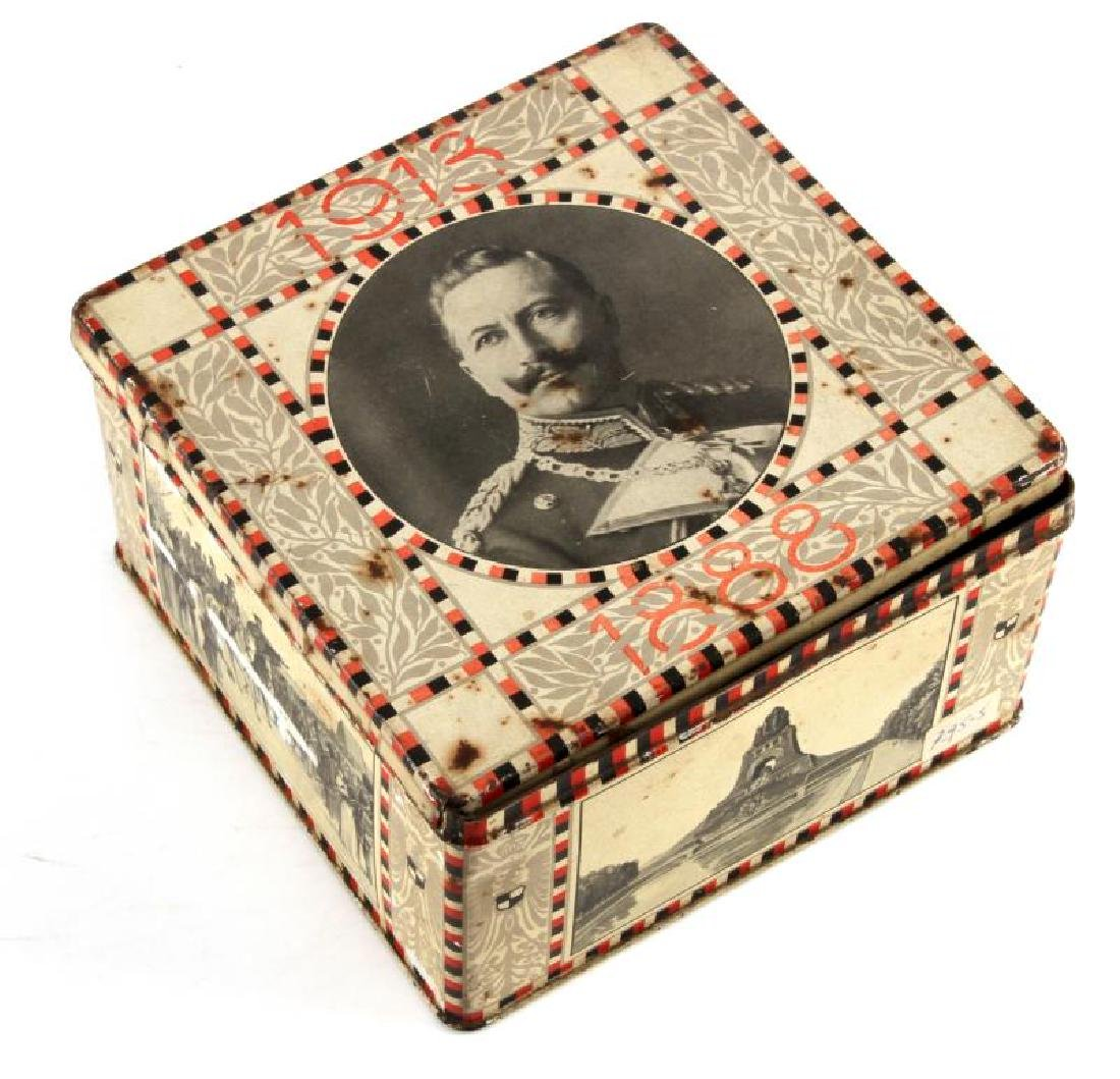 1913 IMPERIAL GERMAN KAISER WILHELM COOKIE TIN