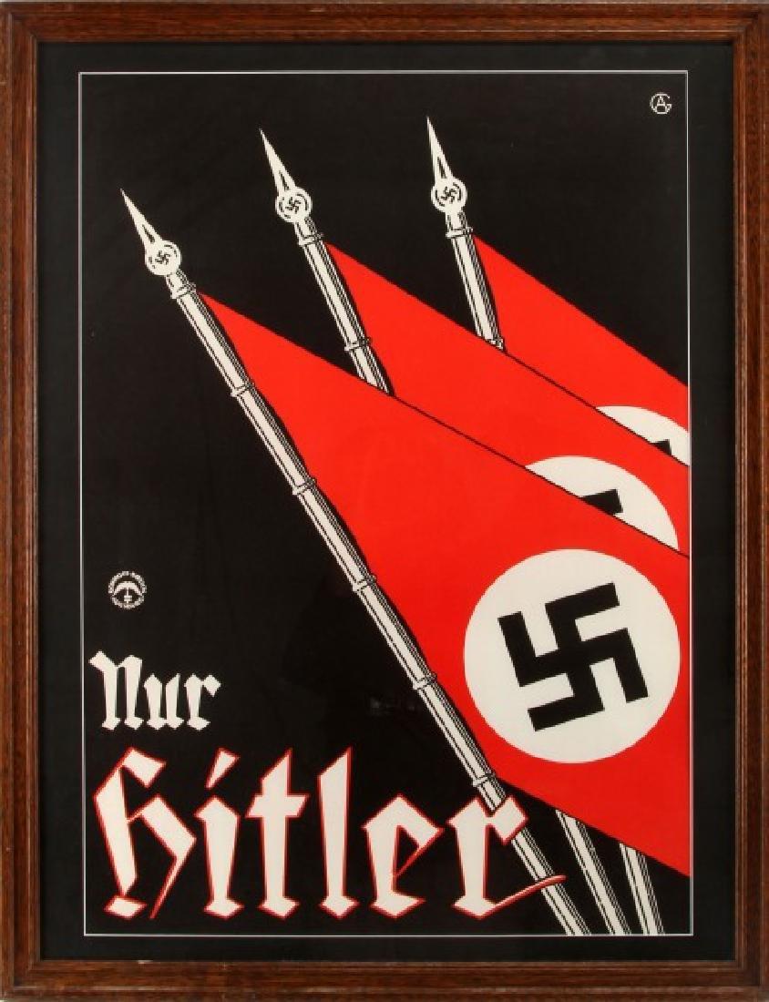 WWII GERMAN SCHROFF DRUCK AUGSBURG HITLER POSTER