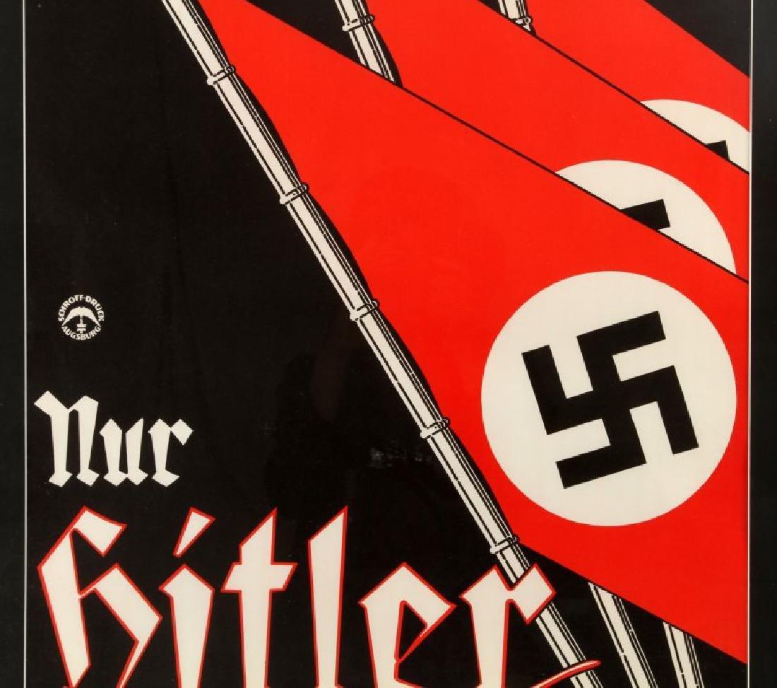 WWII GERMAN SCHROFF DRUCK AUGSBURG HITLER POSTER - 2