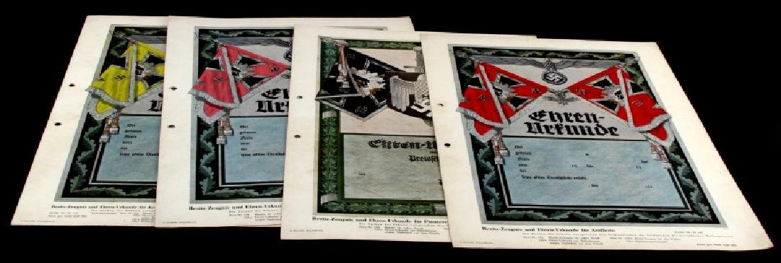 WWII GERMAN 3RD REICH PROPAGANDA LITHOGRAPHS
