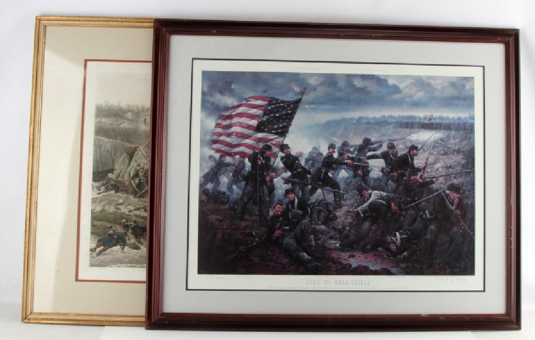 MILITARY AND HISTORICAL BATTLES WAR ART PRINT LOT