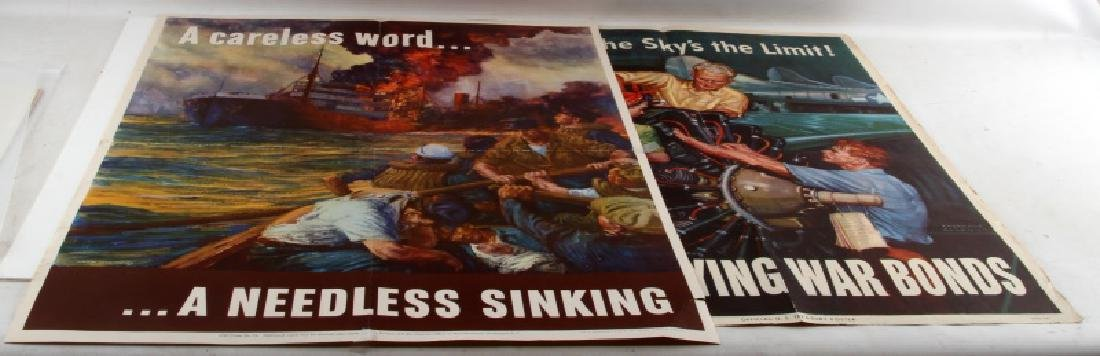 WWII OFFICIAL U.S. MILITARY WAR BOND & OWI POSTER