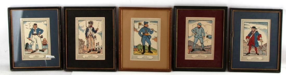 GUY ARNOUX FRENCH MILITARY PRINT LOT OF 5