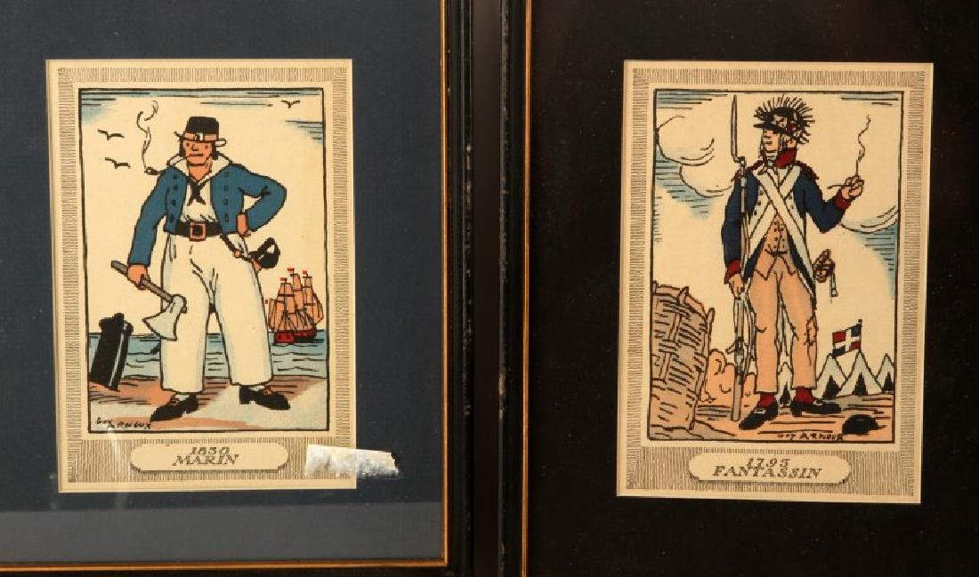 GUY ARNOUX FRENCH MILITARY PRINT LOT OF 5 - 2